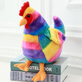 20CM/30CM Plush Rainbow Cock Toys Doll Stuffed Plush Animals Rooster Toys 2017 Chicken Mascot Soft Toys for Kids Newyear Gifts