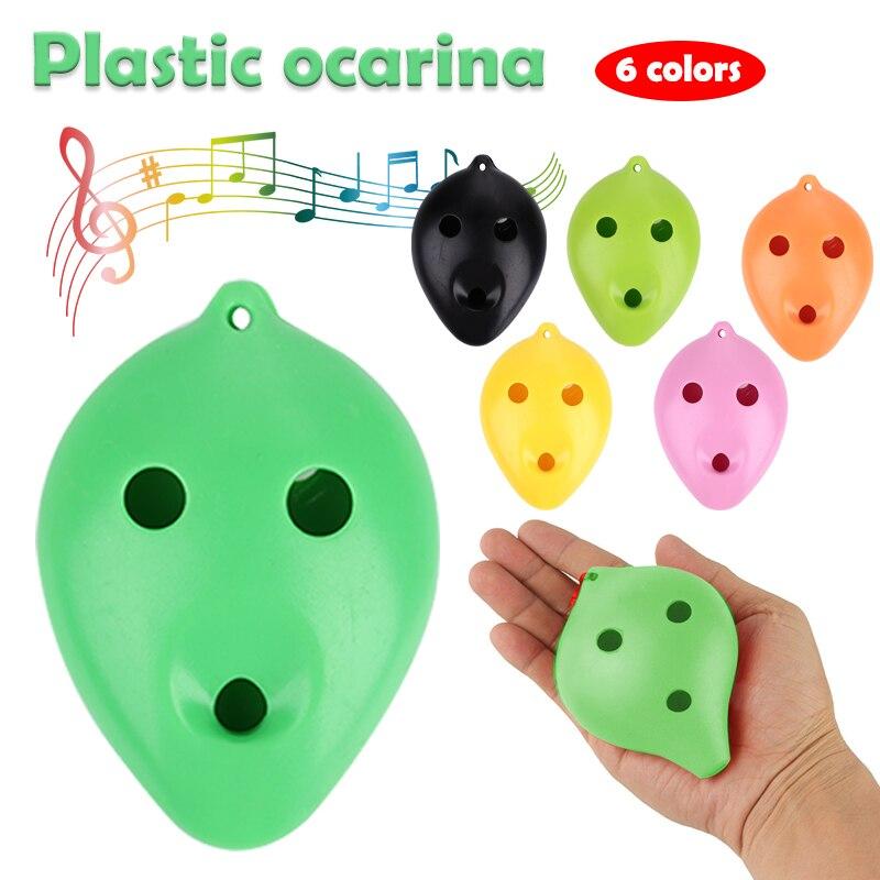 Пластиковая фарфоровая флейта, 6 отверстий для фарфоровой керамики, профессиональная, для начинающих, для обучения окарины, для кракле, белая глина, керамика