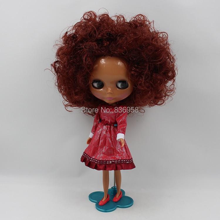 все цены на Dark Skin Nude Doll For Series No.180BL9388 BROWN CURLY HAIR онлайн