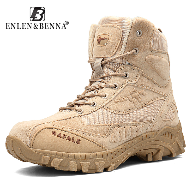 2018 Men Winter Military Boots Fashion Army Boots Men' s Tactical Desert Combat High Top Ankle Boots Men Outdoor Work Shoes Men