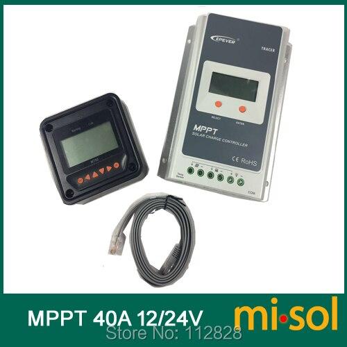 Traceur MPPT régulateur solaire 40A avec compteur à distance, 12/24 v, contrôleur de Charge solaire 40A, nouveau
