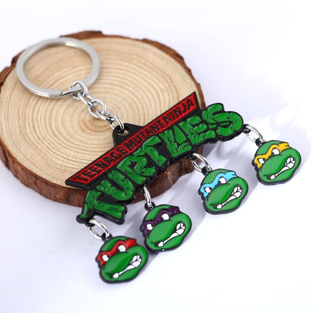 H&F <font><b>new</b></font> arrival TMNT <font><b>Teenage</b></font> <font><b>Mutant</b></font> <font><b>Ninja</b></font> <font><b>Turtles</b></font> metal keychains <font><b>motorcycle</b></font> keychain keychain holder for Chaveiro Llavevos