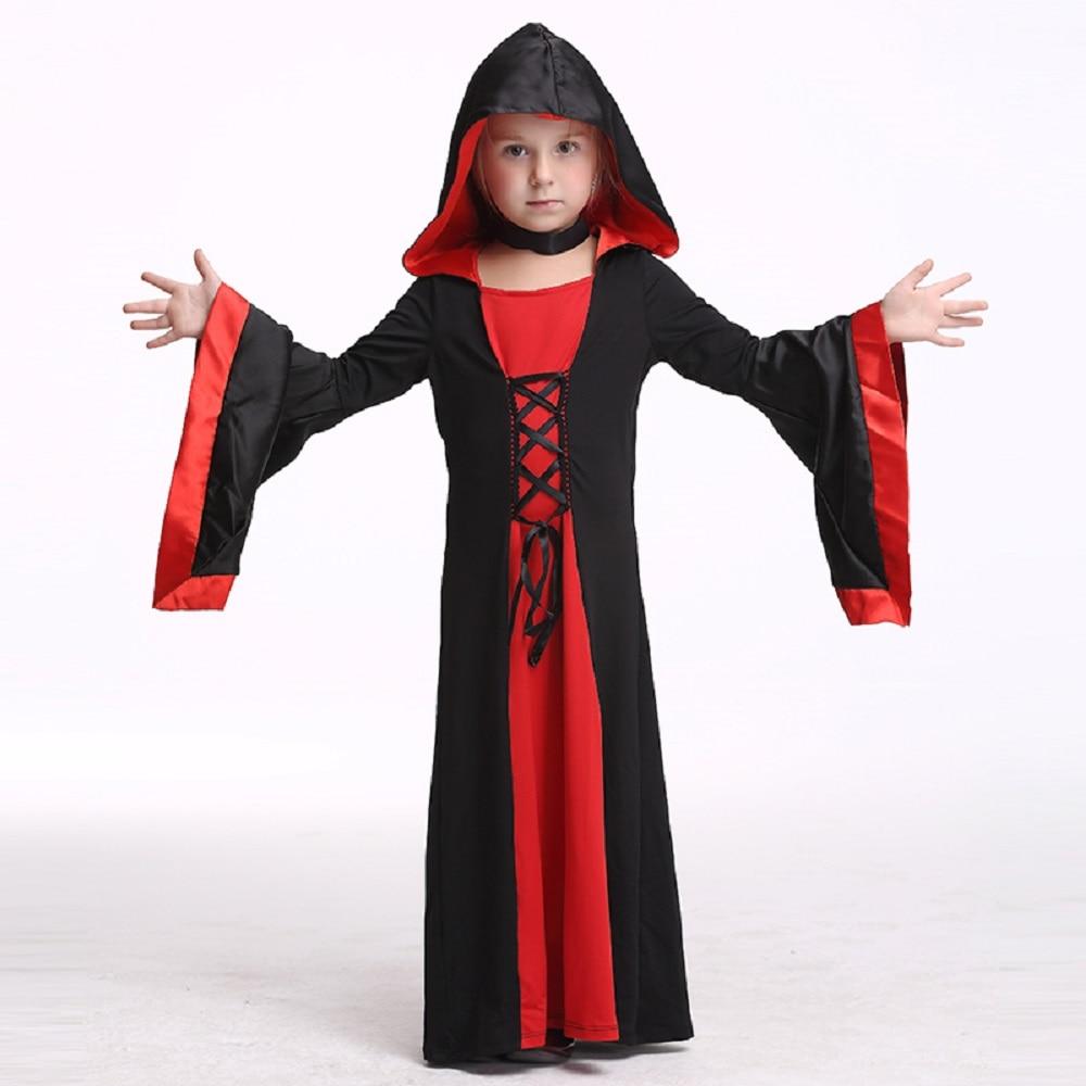 ᓂkids vampire dress costume halloween costume for girls stage