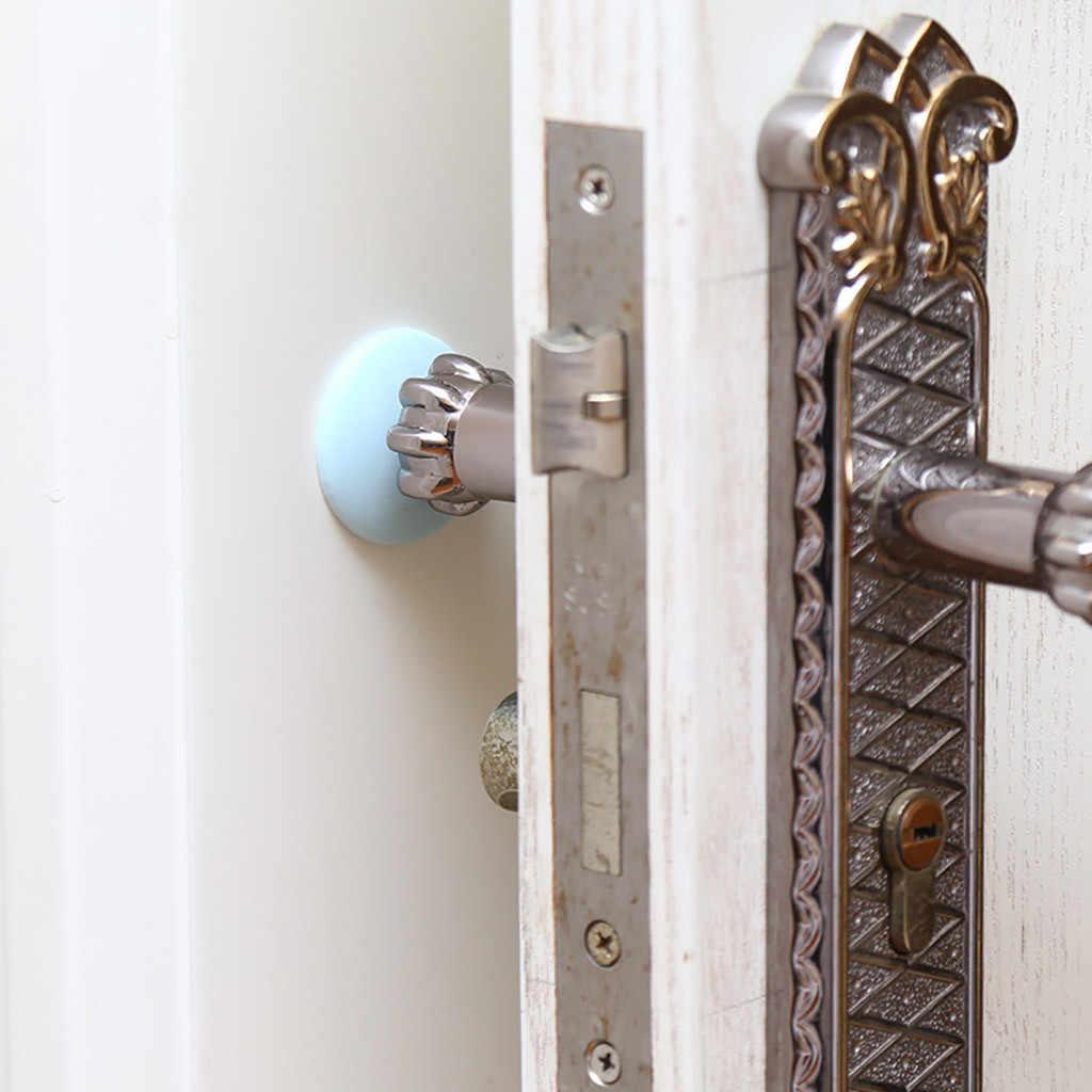 Protector de pared parachoques para Manilla de puerta Tapón Protector de goma autoadhesiva ronda casa puerta trasera Tope de puerta de choque goma #10
