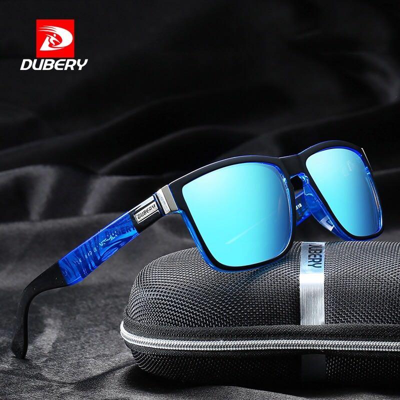 2018 Nova DUBERY Shades Óculos de Sol Masculinos Polarizada Óculos De Sol Dos Homens de Condução Para Homens Okulary Óculos Óculos de Sol Oculos Barato