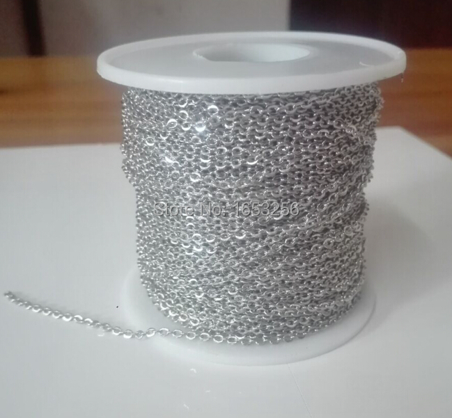 Image 5 - Fate Love Wholesale Price 50meter/ Roll  2mm wide Stainless Steel  Flattened Link Chain Jewelry Finding /Marking Chain solderingjewelry  findingchain jewelrychain finding