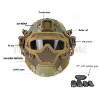Airsoft Shoot New G4 Tactical Helmet PJ ABS Mask with Goggle Military Paintball Army Combat War Game Motorcycle Cycling Hunting