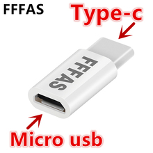 FFFAS Type C Cable Micro USB to Type C Adapter Fast Charger Converter for Xiaomi Mi5