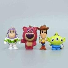 цена на 4pcs/lot Toy Story Action Figure Buzz Lightyear Jessie Woody Alien Bullseye Horse Funny Model Doll For Children