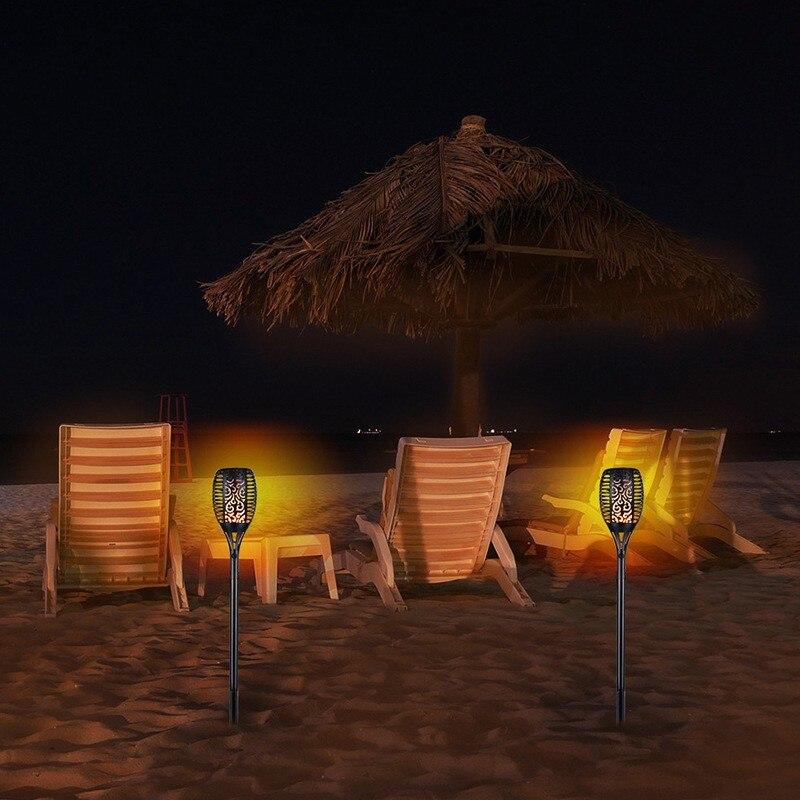 Водонепроницаемый Мигающий сад пламя солнечный свет светодиодный открытый пейзаж украшение сада Газон лампа наземный прожектор