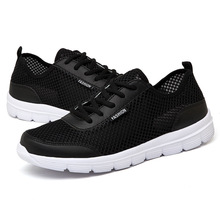 2019 Men Sneakers Casual Shoes Brand Male Mesh Flats Plus Big Size Loafers Breathable Slip On Spring Autumn NanX19