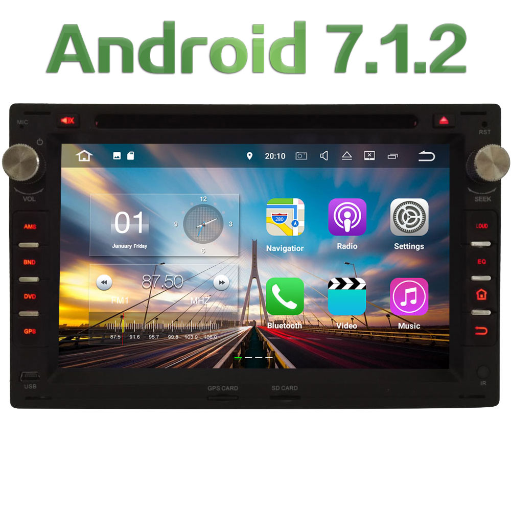 2GB RAM 7 Quad Core Android 7 1 Car DVD Player Audio Stereo Radio GPS for