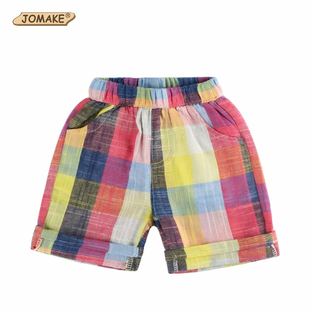 c01ec9d6b2e Colorful Plaid Baby Boy Shorts Rainbow Designer Kids Pants For Boys Summer  2018 Casual Boys Pants Children Clothing Short Garcon