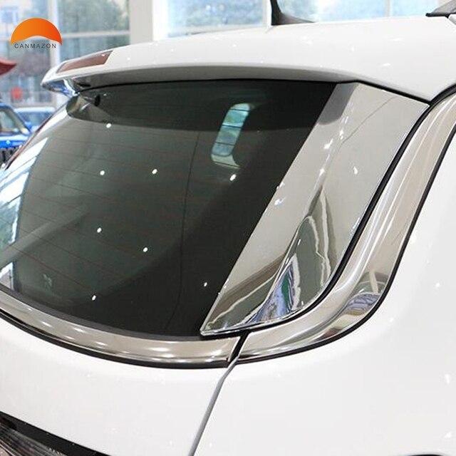 Auto Zubehör Für Jeep Compass 2017 2018 Zweiten Generation ABS Chrome Heckscheibe Heckscheibenspoiler Seitenabdeckung 2 stücke