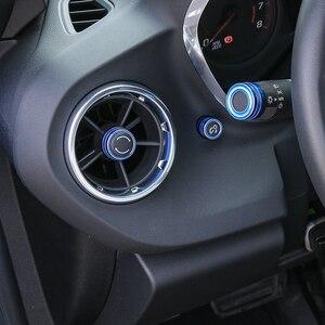Image 3 - MOPAI רכב לוח מחוונים ידית פנל אוויר Vent להתאים כפתור קישוט כיסוי עבור שברולט קמארו 2017 עד אביזרי רכב סטיילינג