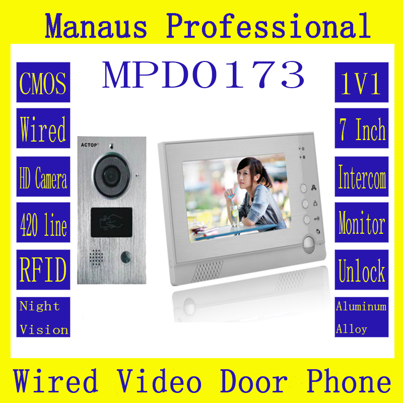 Newest Handfree Intercom One To One Video Doorphone Kit Configuration Smart Home 7