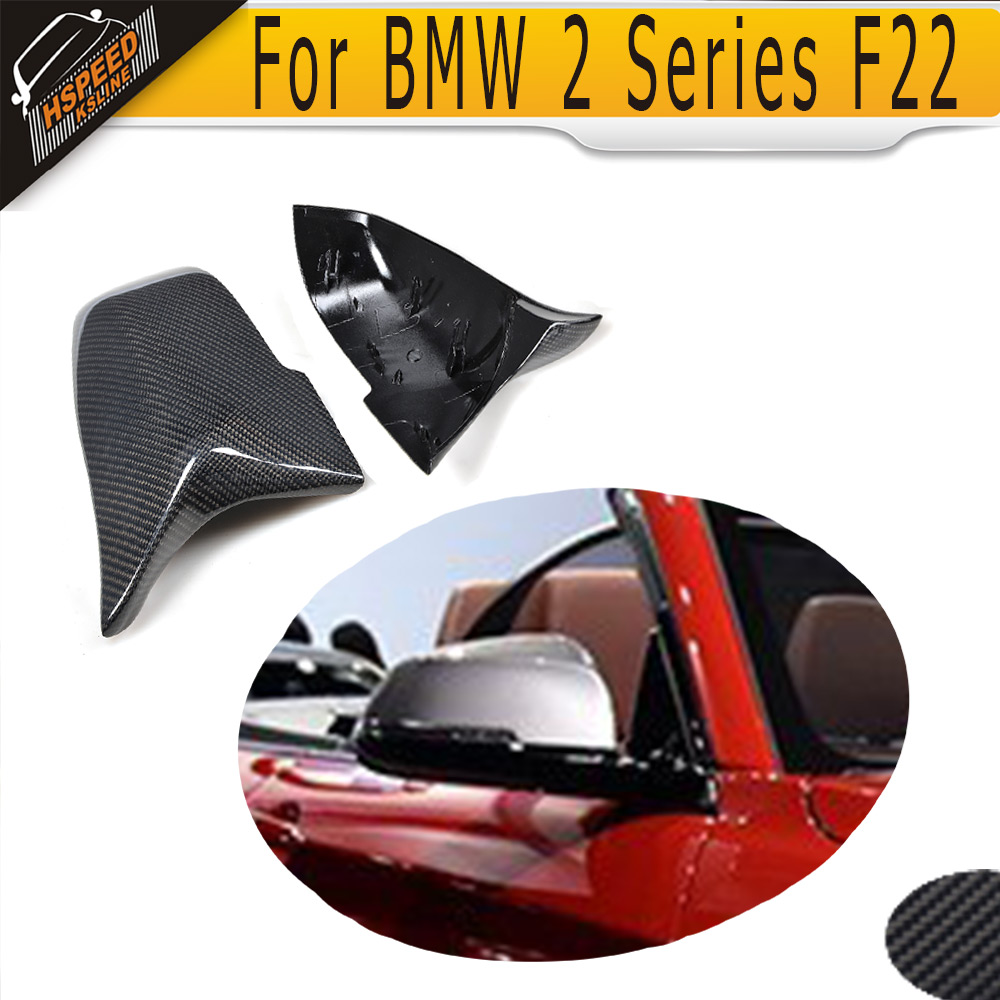 2 Series Carbon Fiber Side Mirror Covers for BMW F22 2014-2016 left driving Not Fit M Car carbon fiber w205 car side mirror box cover shield fit for benz w205 left driving 2014up