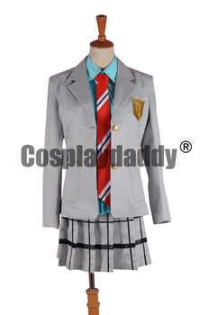 Il vostro Si Trovano nel Mese di Aprile Shigatsu wa Kimi nessun Uso Kaori Miyazono School Uniform Cosplay F006