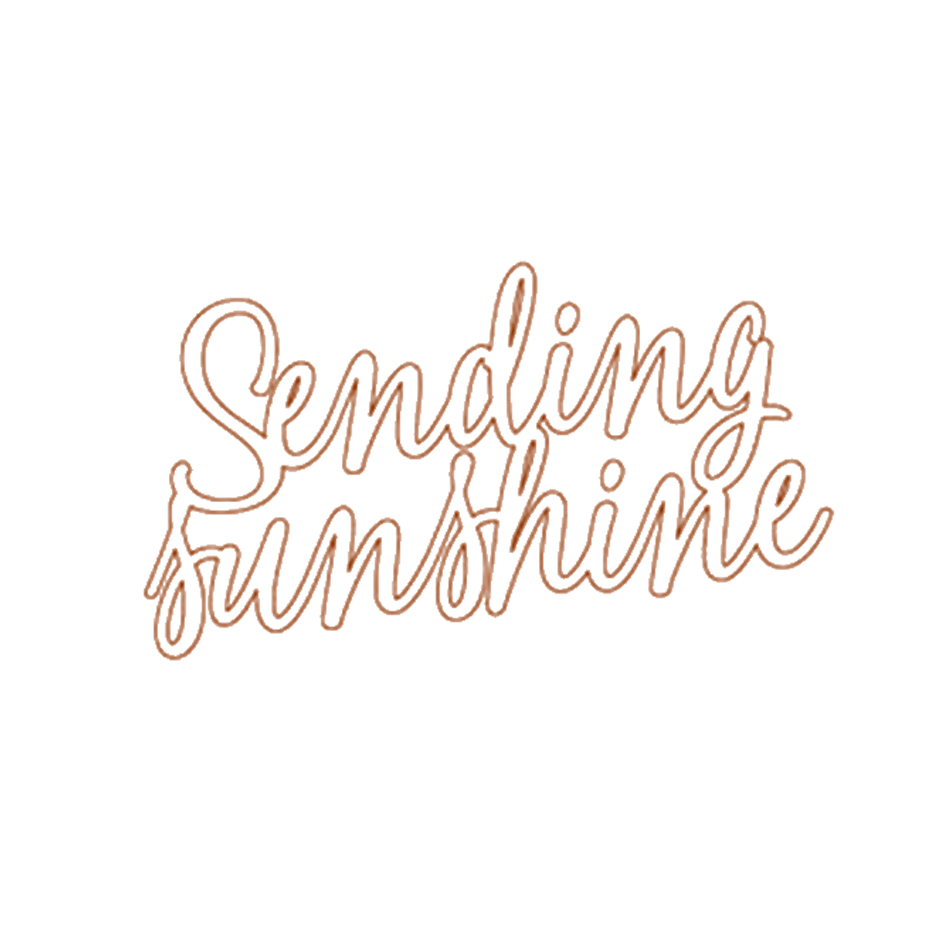 quot Sunshine quot Dies English Phrase Metal Cutting Dies for DIY Scrapbooking Decorative Crafts Supplies Embossing Paper Cards New 2018 in Cutting Dies from Home amp Garden