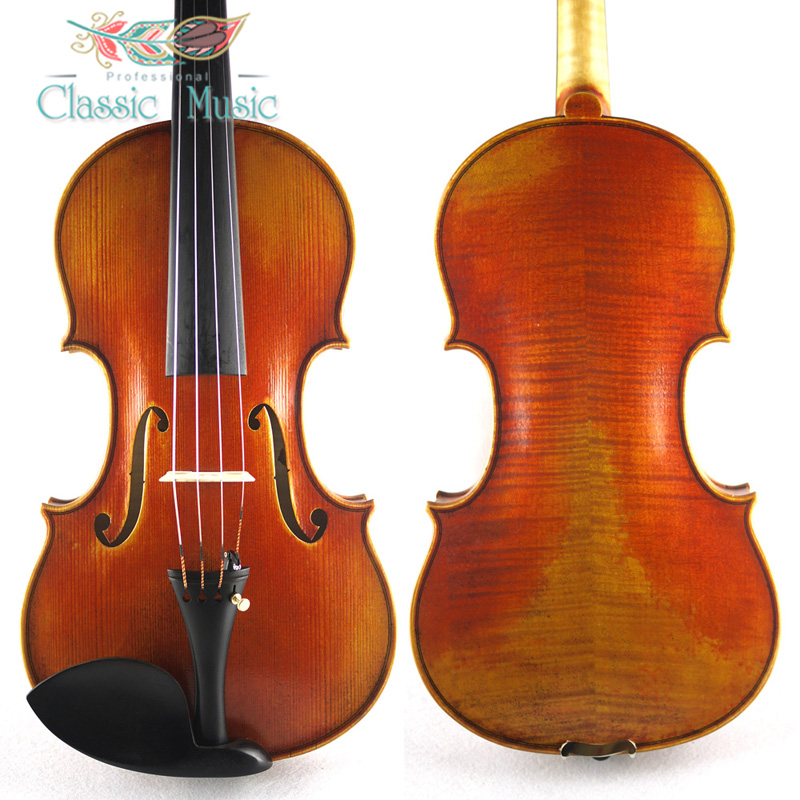 Top Handmade Stradivarius 1716 MessiahCopy ,Master Level ,No1454. European Spruce wood, Great setup,Oil Varnish. austrian spruce ch j b collion mezin copy french master violin no 1408 nice sound antique violin100% handmade