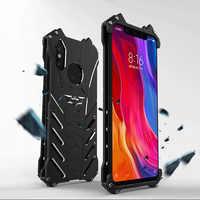 Batman Luxury Metal Bumper Cases For Xiaomi Mi8 Lite 8SE MI Play A2 A3 6X Max3 Max2 Case Shockproof Heavy Duty Armor Cover Ring