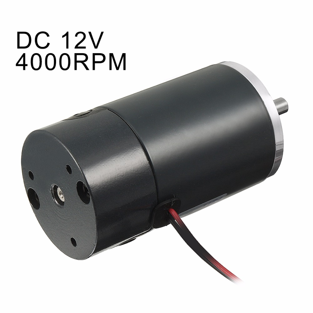 Uxcell R Hot 1pcs Dc 12v 4000rpm Brushed Electric Motor 45mm Ccw Replacement