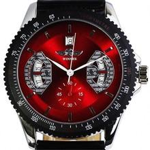 Marque GAGNANT Montres Hommes D'affaires Automatique Montre-Bracelet Bracelet En Cuir De Mode Calendrier Date Automatique Mécanique Auto-Vent Montre-Bracelet