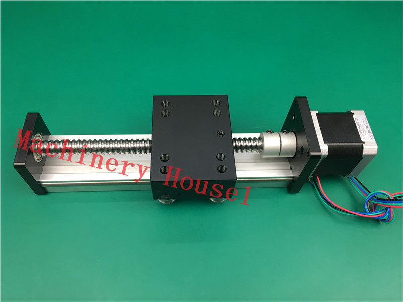 SGK 1605 200MM Ball Screw Slide Rail Linear Guide Moving Table Slip-way+ 1pc nema 17 Stepper Motor ggp 1610 200mm ball screw linear slide modules 1pc nema 17 stepper motor stage