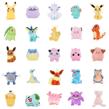 Lovely pikachu Totodile Chikorita Venusaur Eevee marill Anime plush Claw doll for Children day gift soft toys birthday present