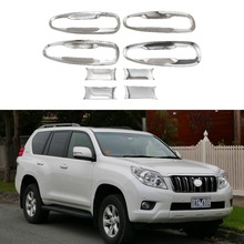 цена на For Toyota Land Cruiser Prado FJ150 2009-2019 8Pcs Car The door handle Bowl covers ABS Chrome Accessories Stickers Car Styling