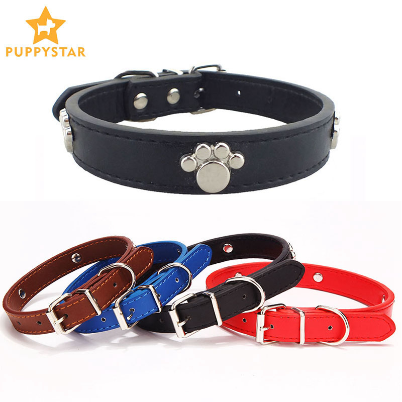 Dog Collar For Large Dogs Cats Puppies Pet Products Leather Collars For Cat Dogs Puppy Leather Cats Dog-Collar Supplies JW0028