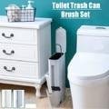 6L узкие пластиковая урна для мусора в комплекте с туалетная щетка для уборки в ванной дежатель для мусоного ведра для мусора ведро для мусор...