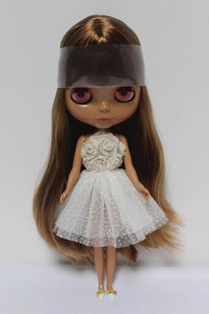 Free Shipping big discount RBL-131DIY Nude Blyth doll birthday gift for girl 4colour big eyes dolls with beautiful Hair cute toy