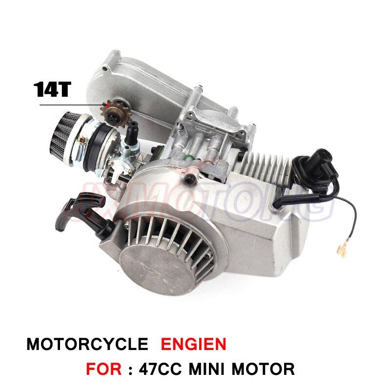 Moteur 49cc avec boîte de vitesses de mini vélo hors route pour enfants moto marque KXD LIYA HIGHPER