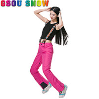 Gsou Snow Brand Ski Pants Women Waterproof Snowboard Pants Winter Ski Trousers Breathable Outdoor Skiing Snow