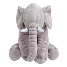 40-60CM puha baba állati elefánt párna gyerekek alvás párna szoba baba ágy Párnák takarók Kids Doll baba szék plüss