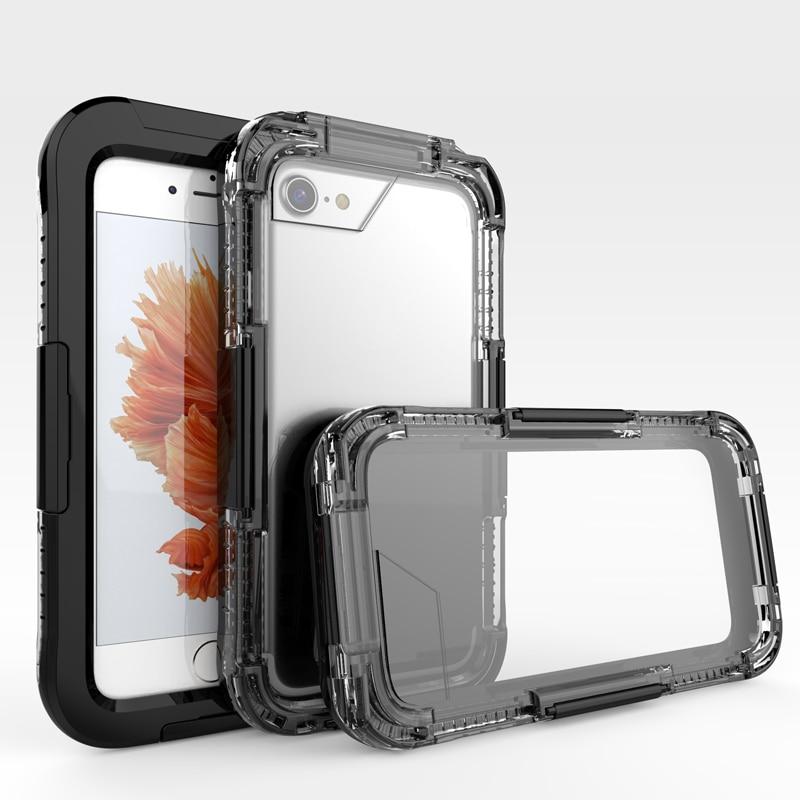 IP68 5M simning fodral för iPhone 7 vattentätt etui akryl dykning - Reservdelar och tillbehör för mobiltelefoner - Foto 1