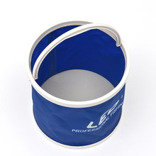 Outdoor Bucket Lightweight Canvas Folding Bucket Portable Fishing Bucket Outdoor Tool for Camping Hiking Picnic Travel 3 Colors