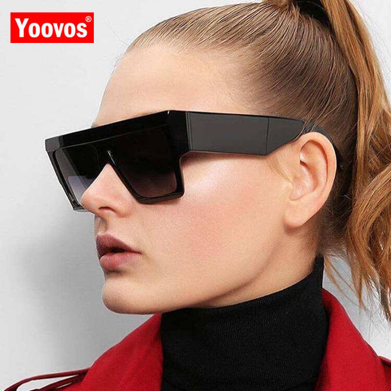 Yoovos 2019 New Square Sunglasses Women Men Big Frame Fashion Retro Mirror Sun Glasses Brand Vintage Lunette De Soleil Femme