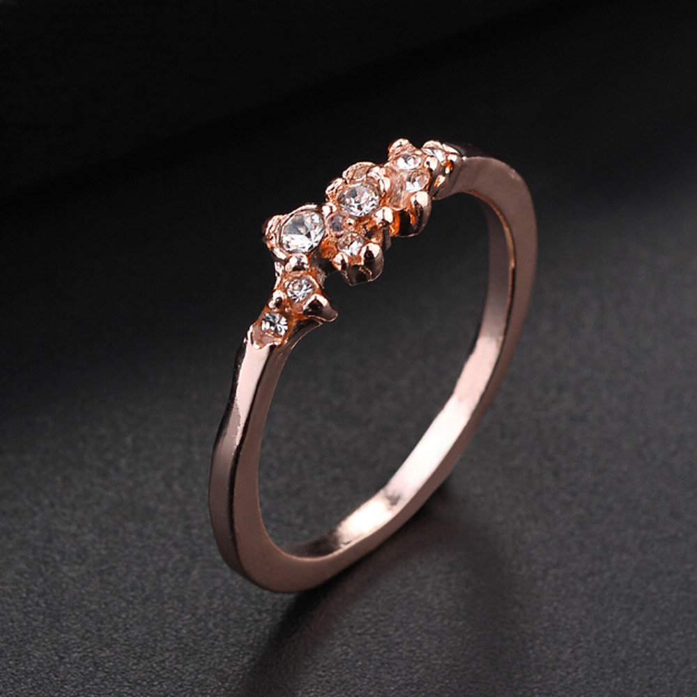 Stylish Women's Ring Bride Ring Wedding Ring Birthday Gifts Jewelry Accessories Anillos Elegant Ornaments Shiny Rings Pendant