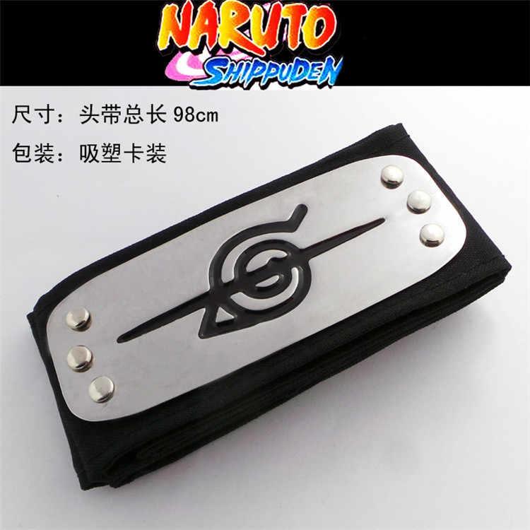 Anime Naruto Figuras Logotipo Konoha Kakashi Membros Da Akatsuki Headband Leaf Village Headband Cosplay Acessórios