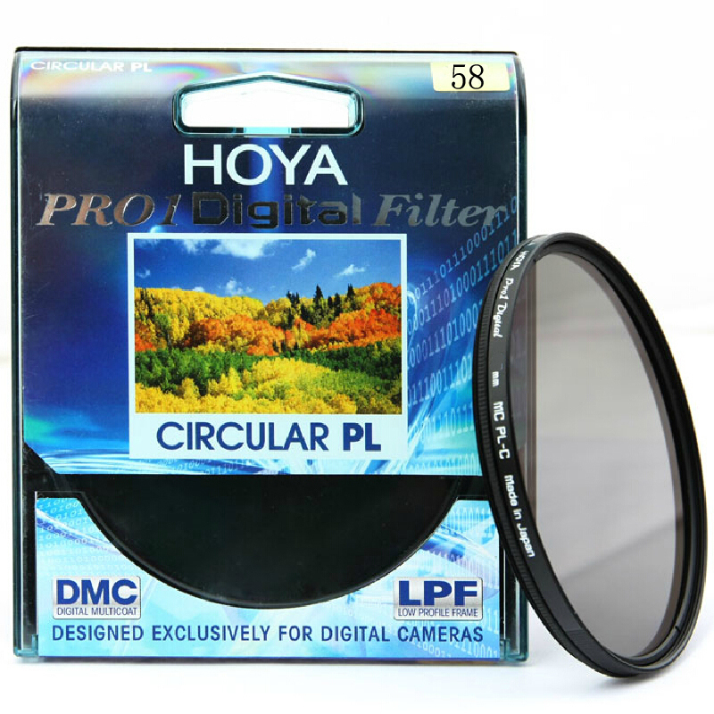 58mm Hoya Filter Set PRO1 MC CPL + PRO1 MC UV Filter Kit For Camera Lens светофильтр hoya star six 58mm 76098