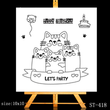 ZhuoAng Cute kitten Clear Stamps/Card Making Holiday decorations For  scrapbooking Transparent stamps 10*10cm