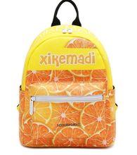 Miwind-F оранжевый Lemon фрукты печати PU Сумка, Новый Дамы Путешествия Рюкзак Летняя мода, милые школьные сумки, известные бренды пакеты
