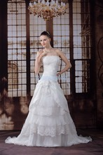 free shipping bridal gowns and wedding of dress 2013 new custom size/color church dresses beading elaborate