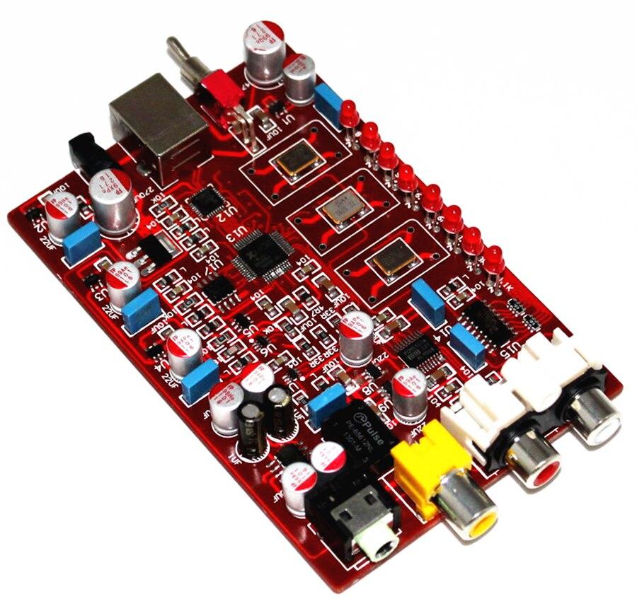 YJHIFI XMOS+ PCM5102 + TDA1308 USB decoder board USB in Coaxial RCA headphone output