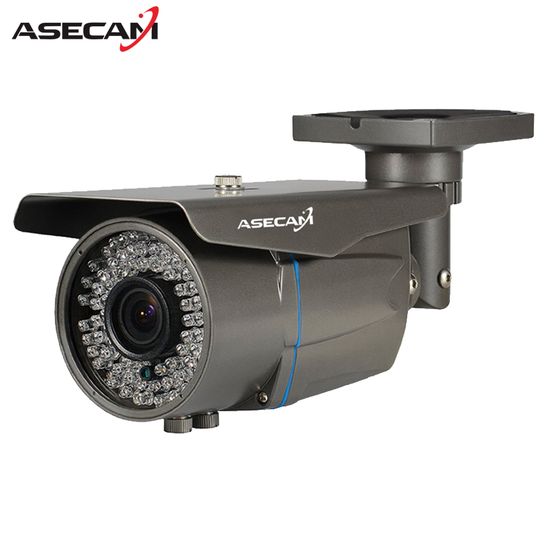 Zoom Varifocal 2.8-12mm Lens Full HD 1080P POE IP Camera Onvif Bullet Waterproof 78led Security Gray White P2P CCTV CAM smar onvif security hd ip camera 720p 960p 1080p outdoor waterproof cctv bullet camera 4x zoom 2 8 12mm manual varifocal lens