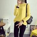 Envío gratis 2014 tamaño suéter básico otoño e invierno engrosamiento de manga larga mujer suéter suéter mujeres moda WL0006