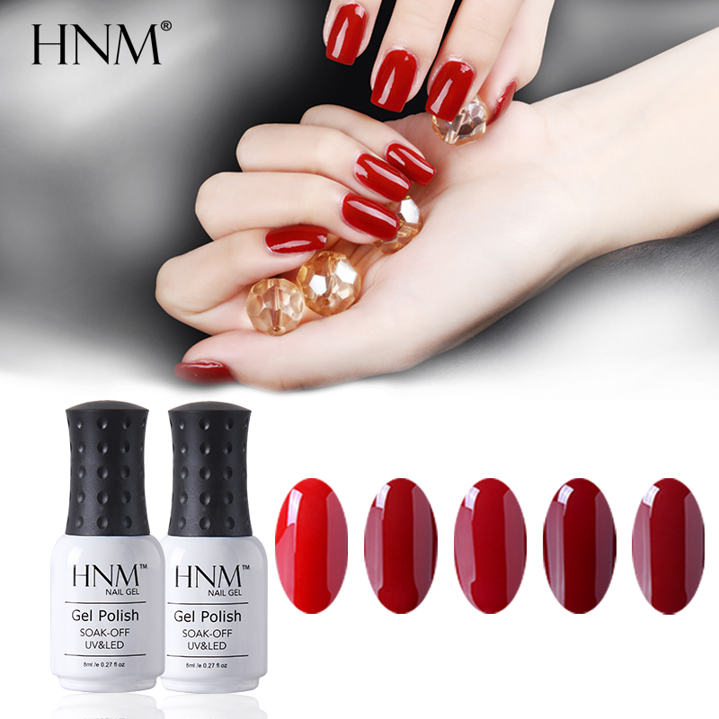 HNM 8ML Wine Red Colos UV Gel Nail Polish