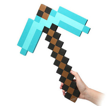 Free Shipping Minecraft Foam Sword Pickax Gun Minecraft Foam Weapons Model Toys Brinquedos for Kids Gifts Minecraft Model